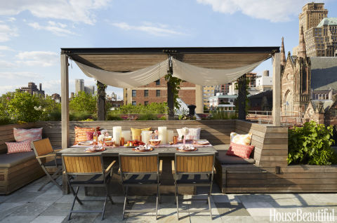 rooftop kitchen outdoor kitchen in brooklyn by laurie blumenfeld russo. Black Bedroom Furniture Sets. Home Design Ideas