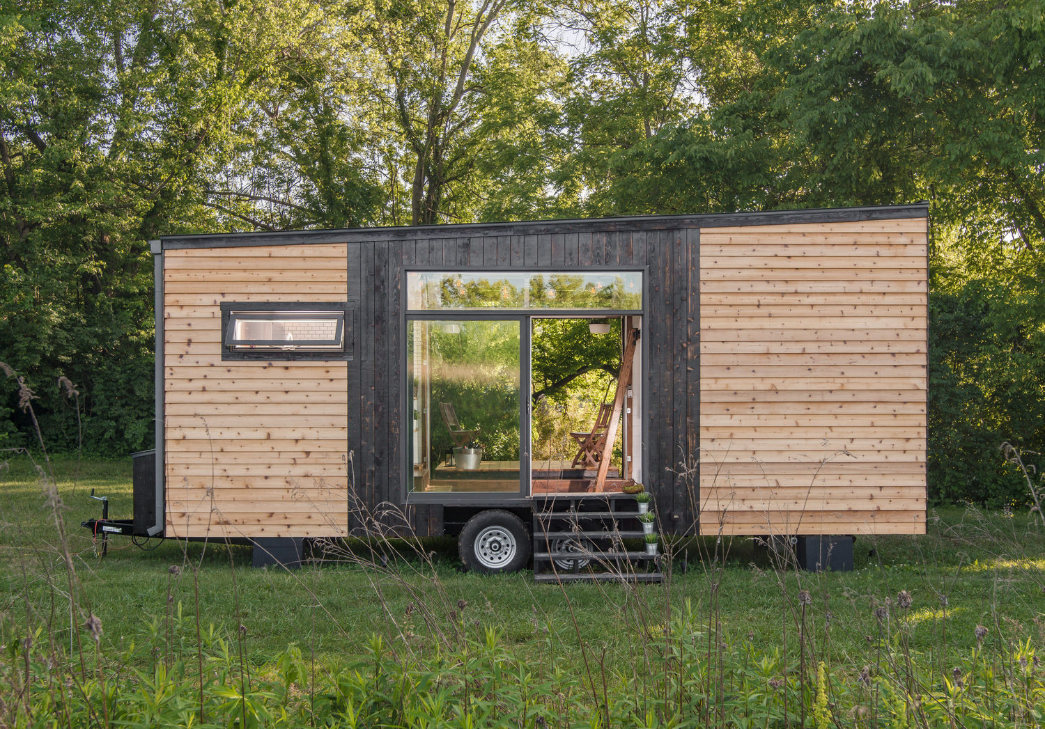 Tiny House Town Beautiful Seattle Tiny House: Inside A Tiny House With A Pop-Out Deck