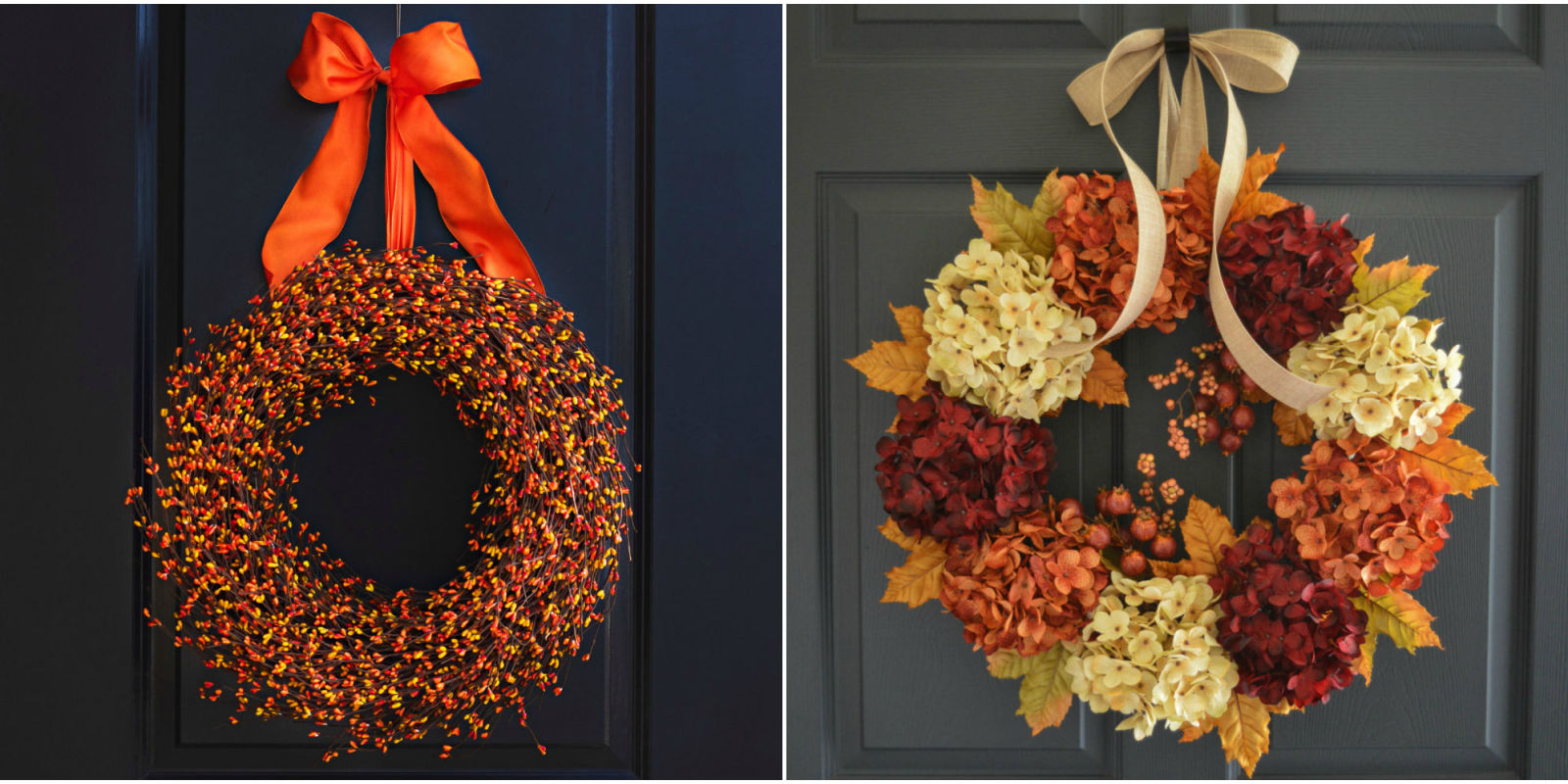 Door Wreaths 30 Diy Fall Wreaths Autumn Wreaths For Sale