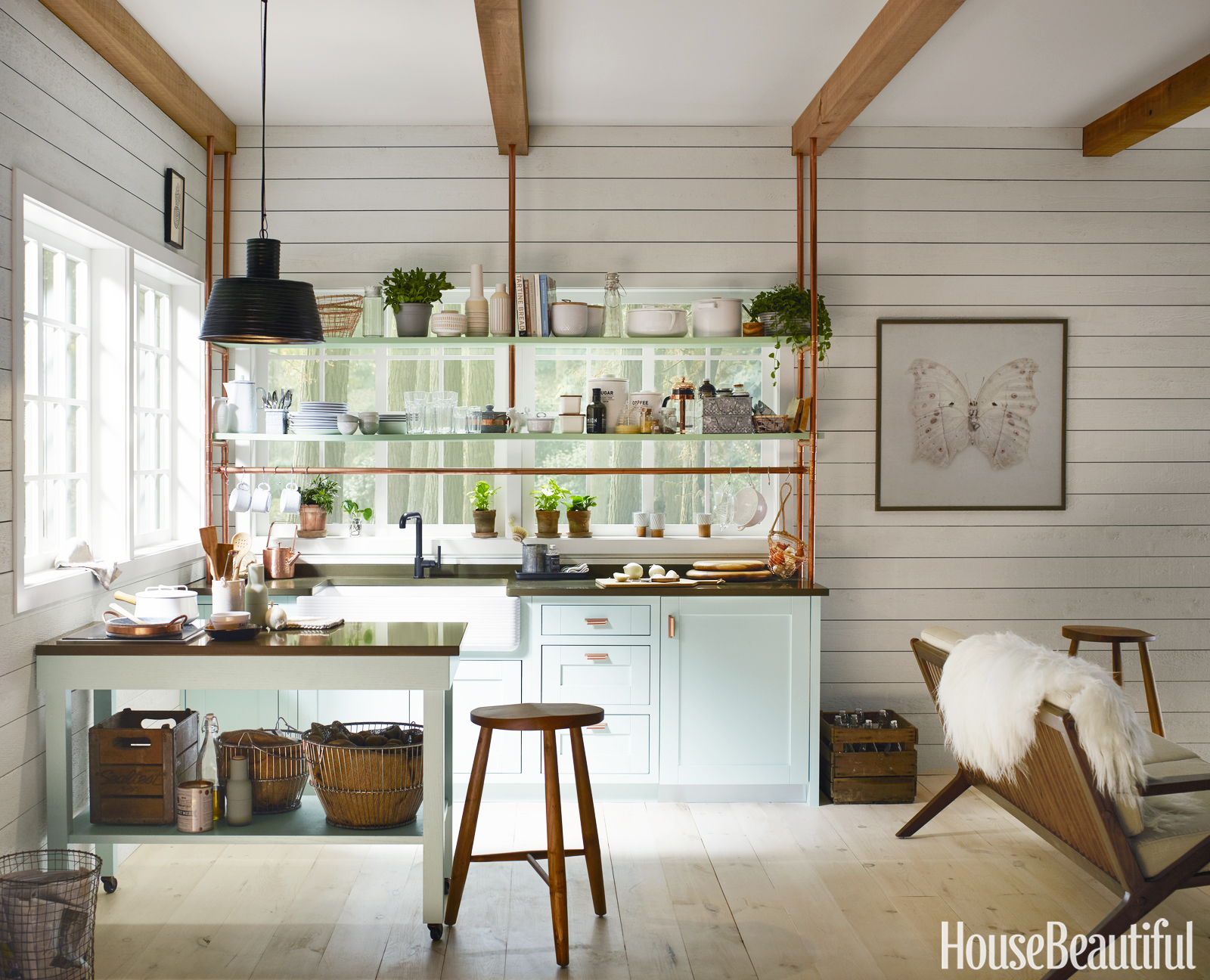 Tiny kitchen designed by kim lewis - Beautiful small spaces pict ...
