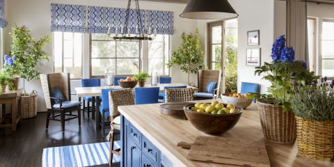 Blue And White Decor blue and white decor and rooms - decorating with blue and blue