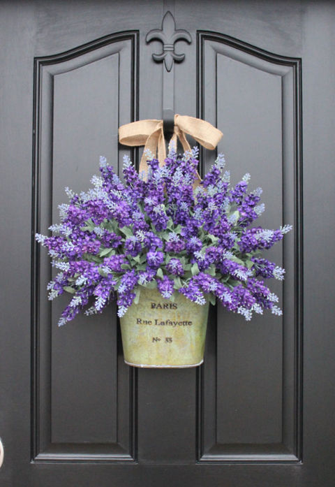 Superior Lavender Door Decor