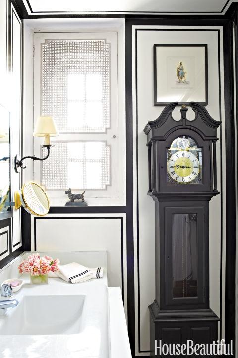 classic timepiece - Powder Room Design Ideas