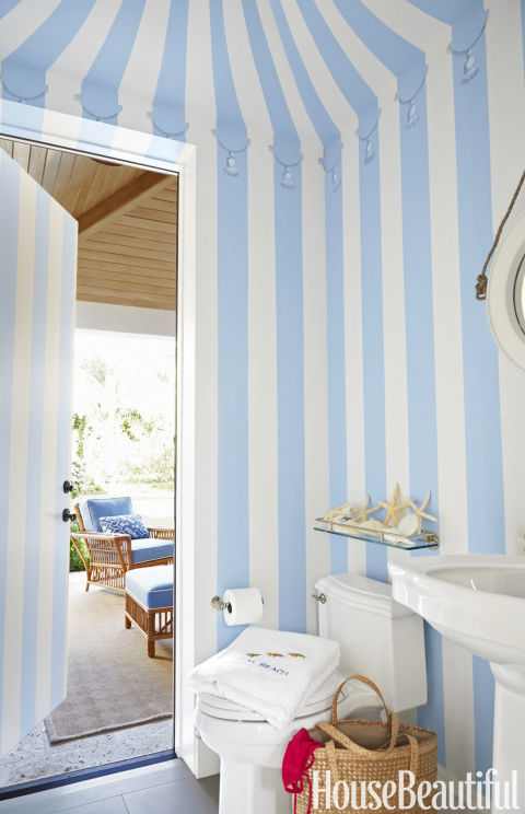 Playful Stripes. Powder Room Decorating Ideas   Powder Room Design and Pictures