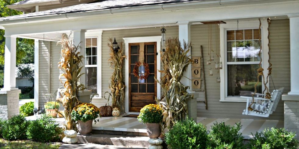 Porch Decor 20 fall porch decor ideas - best autumn porch decorations