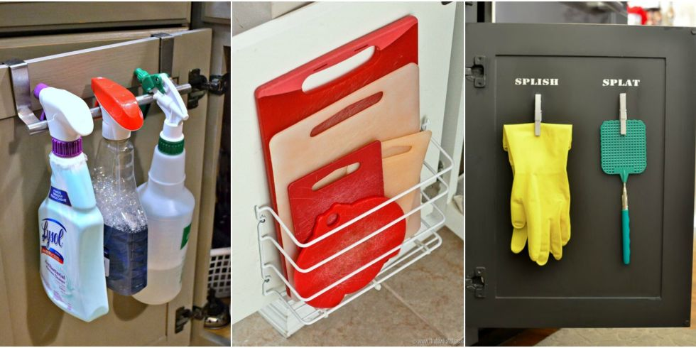 cabinet doors - Cabinet Door Storage Ideas - Organization Tricks For Cabinets