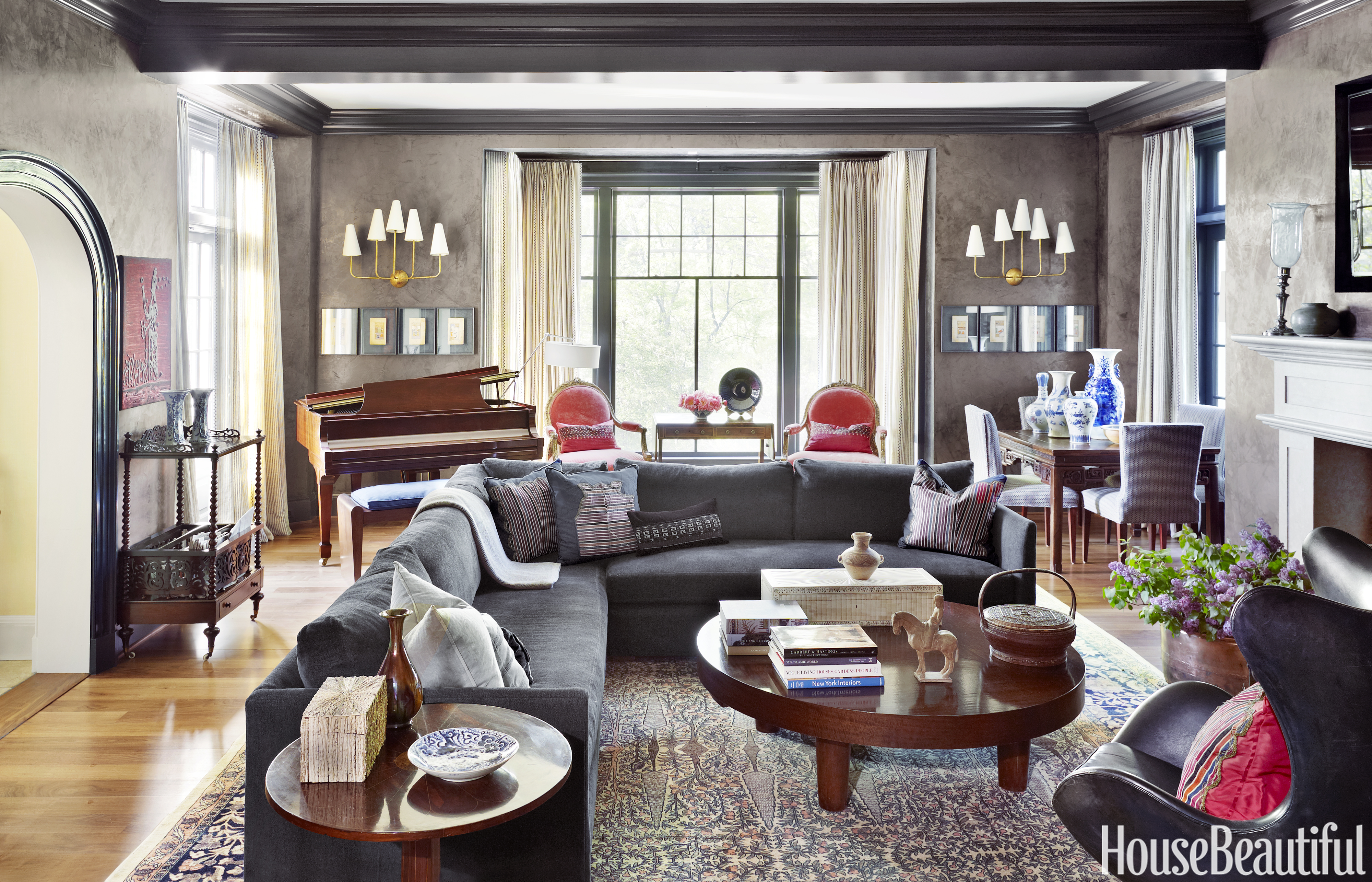 Old world style decorating interior designer mona hajj - House beautiful living room makeovers ...