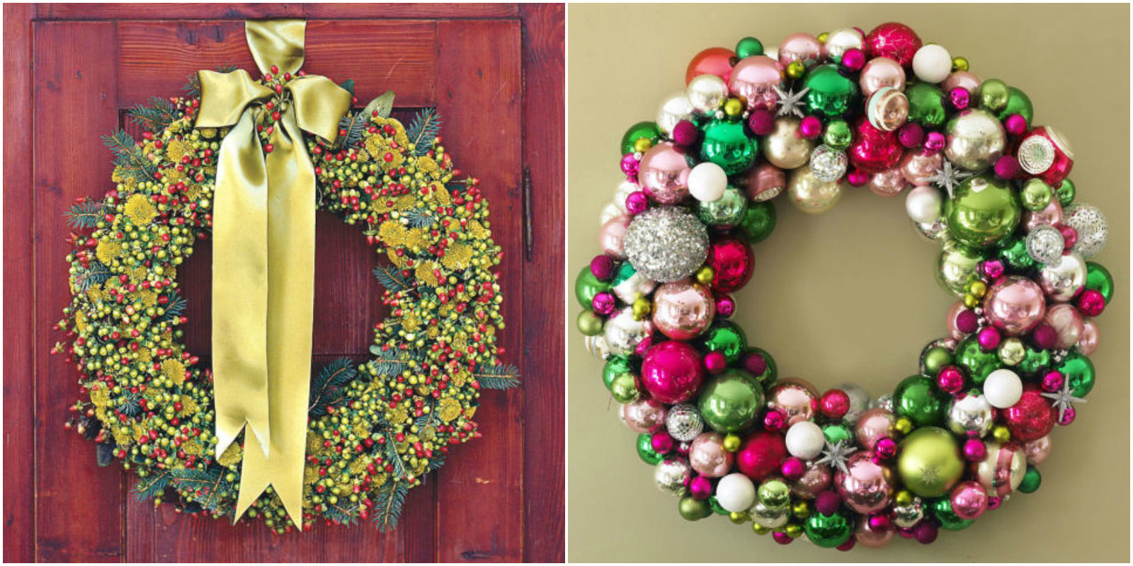 40 diy christmas wreaths how to make a holiday wreath Christmas wreaths to make