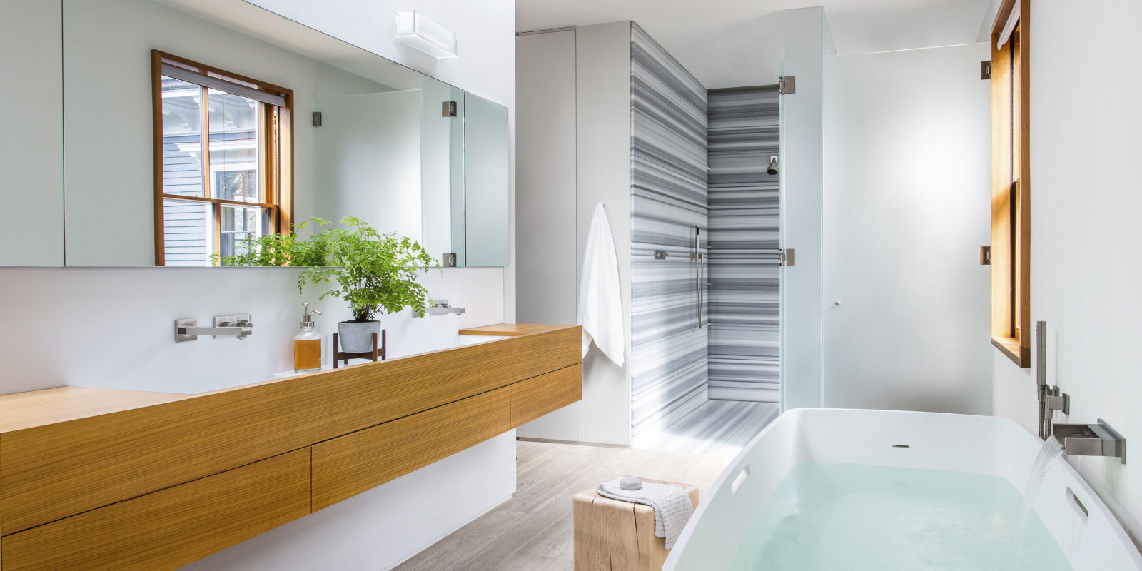 modern master bathroom ideas butz klug architecture