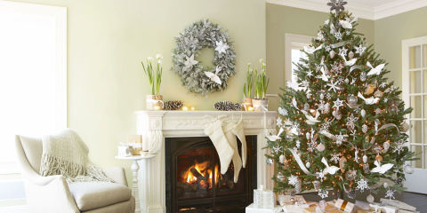 Decorate house on christmas