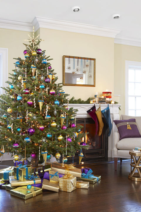 Christmas Tree Living Room 35 christmas tree decoration ideas - pictures of beautiful