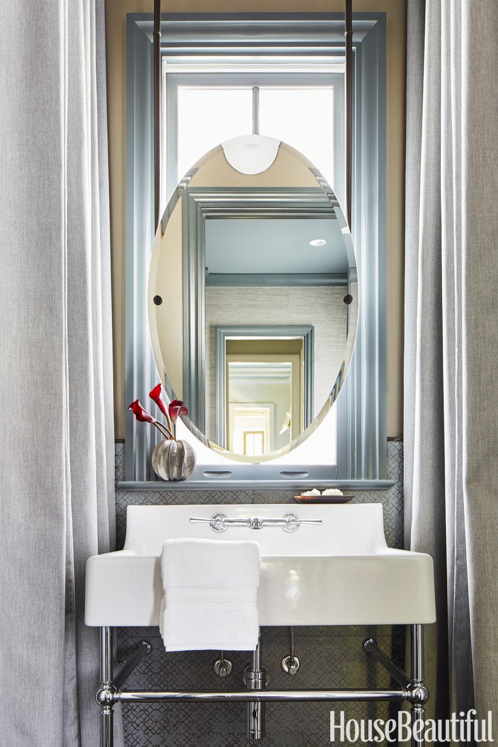 Bathroom Mirror In Front Of Window 140 best bathroom design ideas - decor pictures of stylish modern