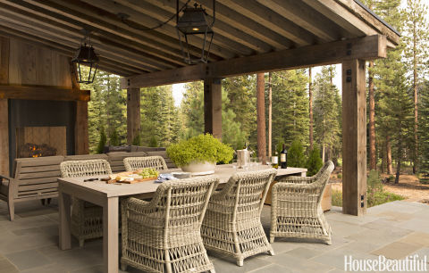 Mountain home style rustic decor and decorating for Ideas para patios traseros