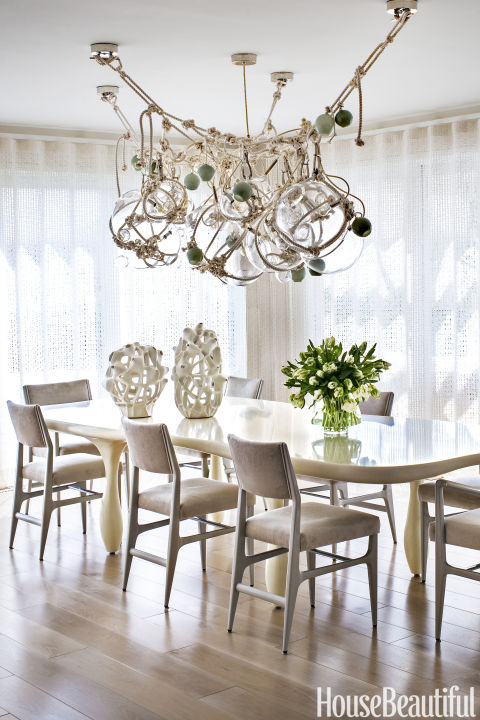 Modern Art A Hamptons Dining Room