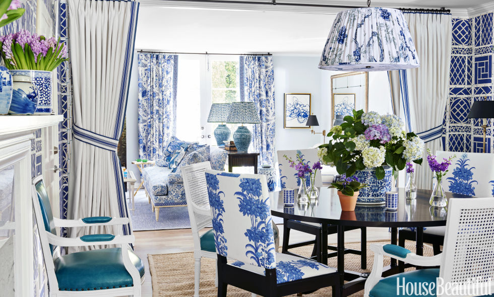 blue and white house - los angeles designer mark d. sikes