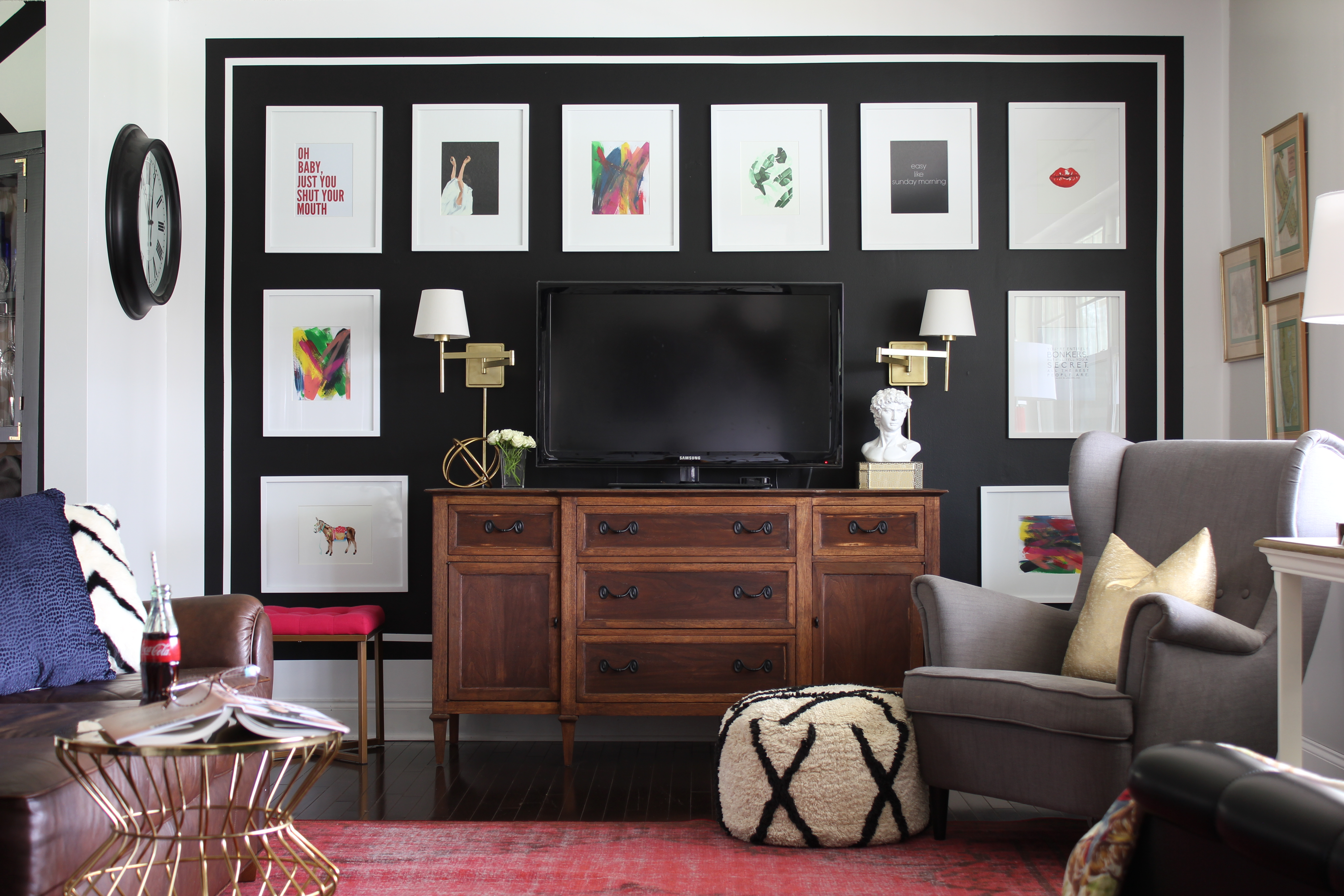 7 ways to declutter your home with paint paint ideas for Family room photo gallery