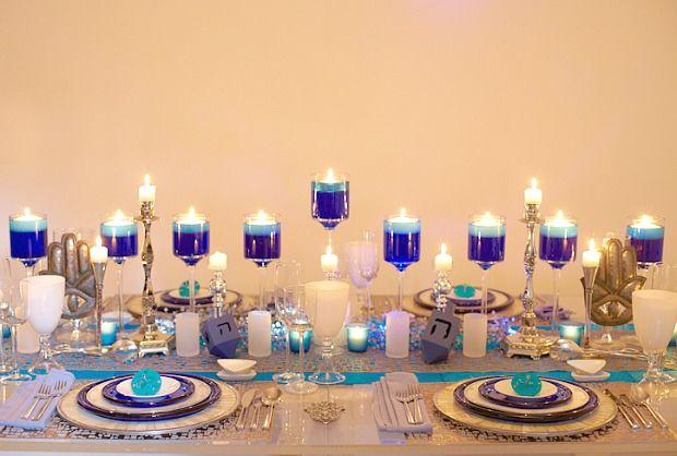 candlelight centerpiece - Hanukkah Decorations