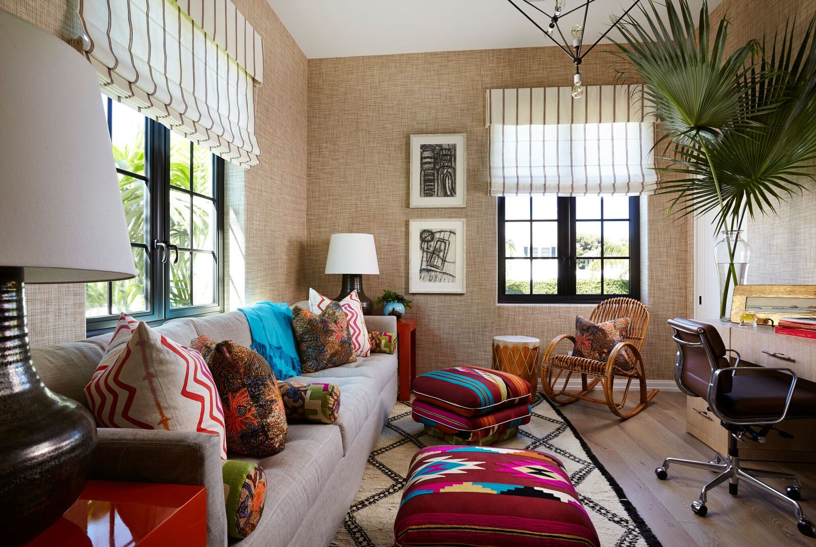 Colorful Patterns And Breezy Neutrals Define This Sunny