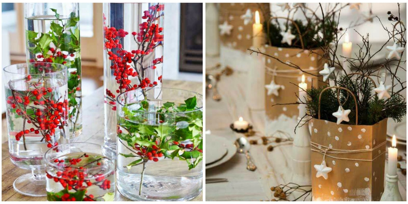 16 best diy christmas centerpieces beautiful ideas for Small christmas centerpieces