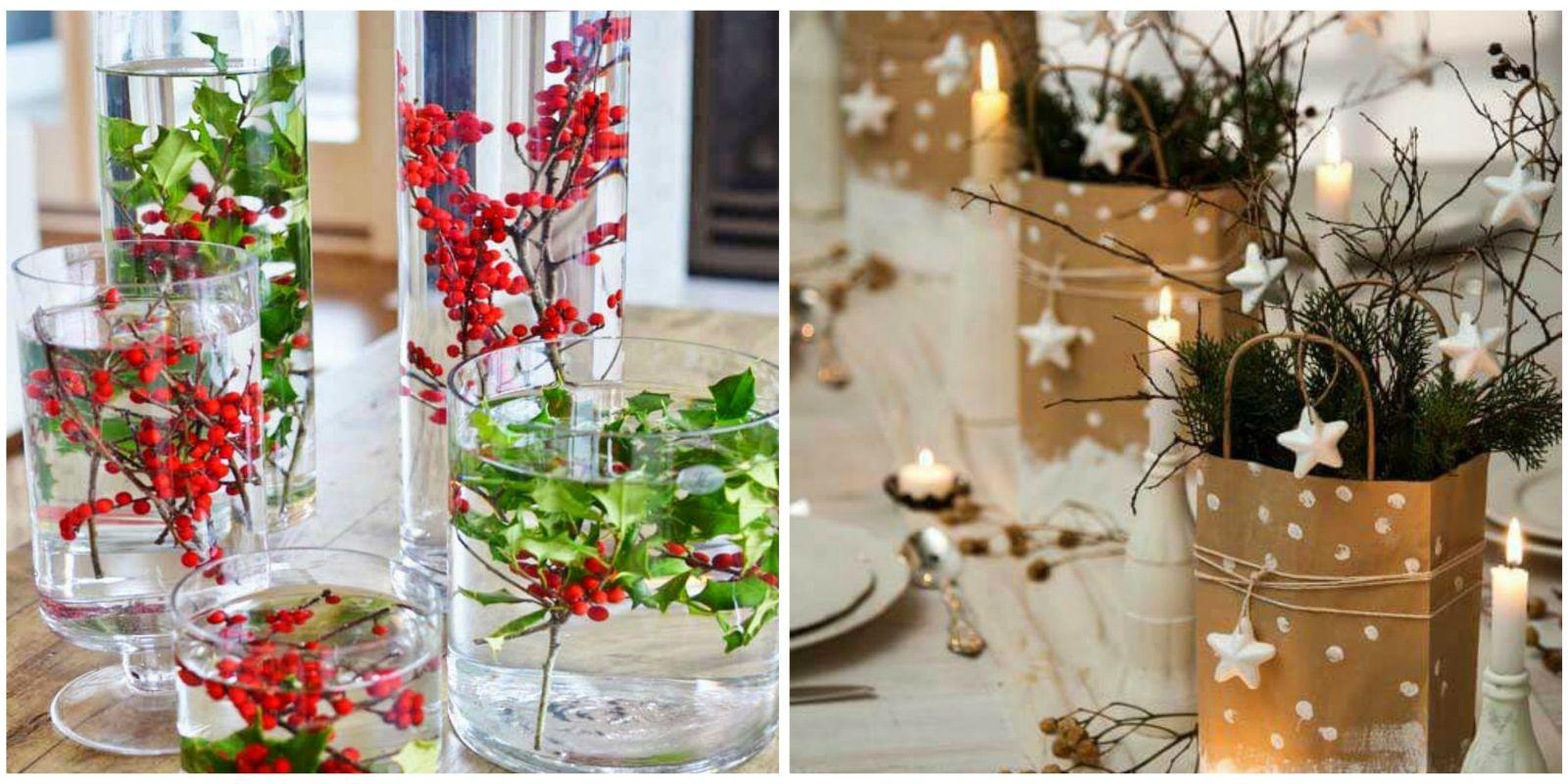 16 best diy christmas centerpieces beautiful ideas for Small christmas centerpieces
