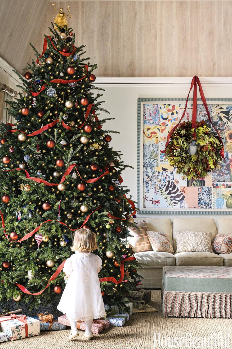 House Beautiful Decorating catherine olasky decorates texas home for christmas - holiday