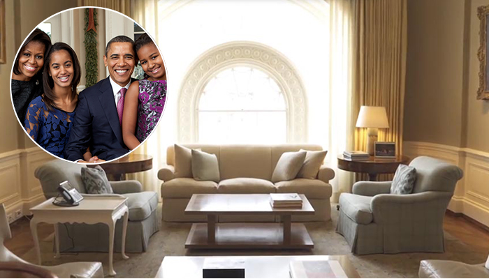 obama first family residence the white house family residence. Black Bedroom Furniture Sets. Home Design Ideas