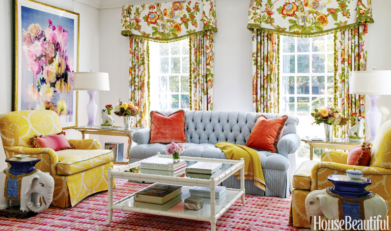 House Beautiful Living Room colorful home makeover - bailey mccarthy's texas house