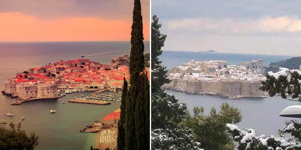 Snow In King S Landing Snow In Dubrovnik Croatia