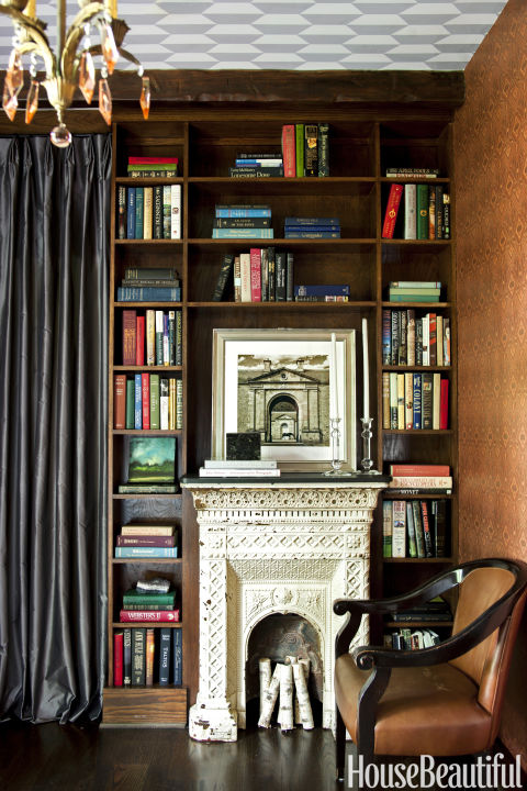 ornate mantel - Library Design Ideas