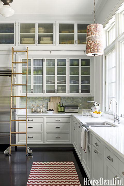 rolling ladder - Kitchen Cabinet Ideas For Small Kitchens