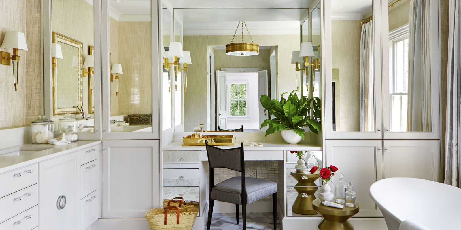 Beautiful Master Bathroom Ideas: Glam Bathroom By Matthew Quinn