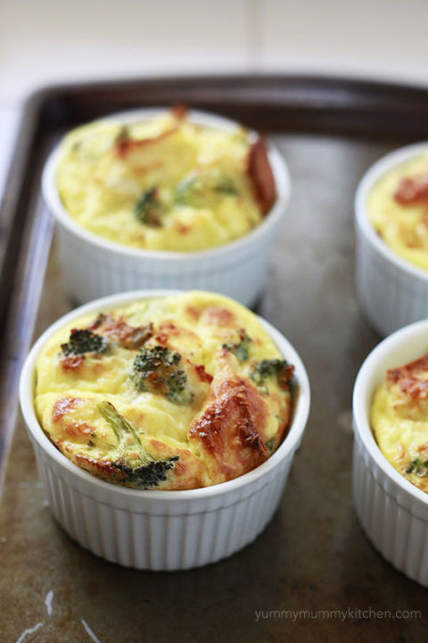 Overnight Mini Baked Egg Casseroles20 Easy Egg Recipes   Best Breakfast and Dinner Recipes with Eggs. Dinner Ideas For 20 Guests. Home Design Ideas