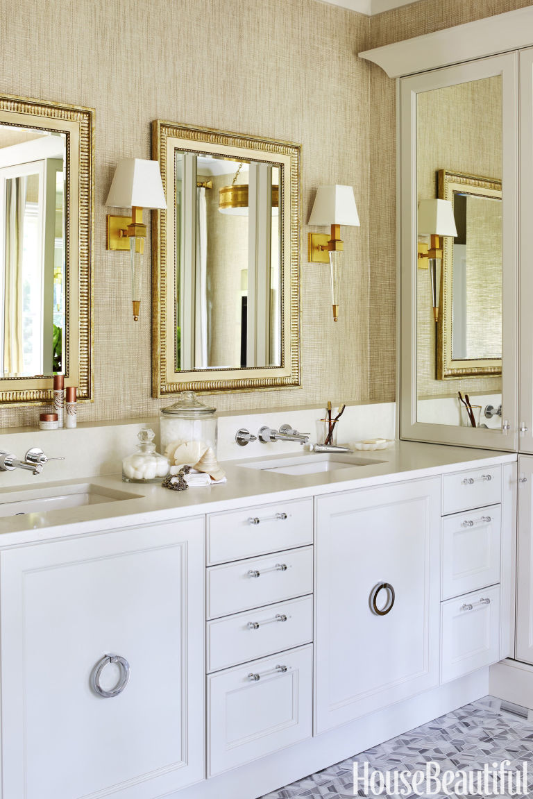 House Beautiful Bathroom glam bathroommatthew quinn - luxurious bathroom design ideas