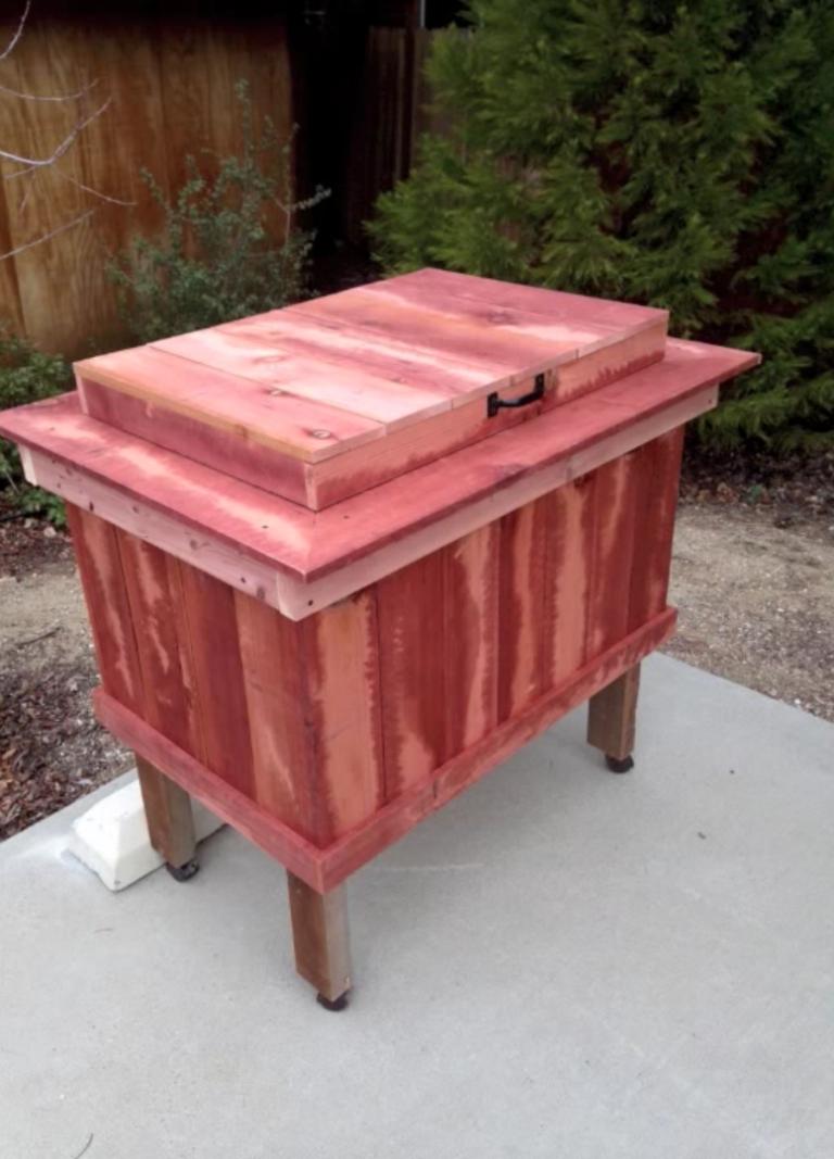DIY Rustic Cooler
