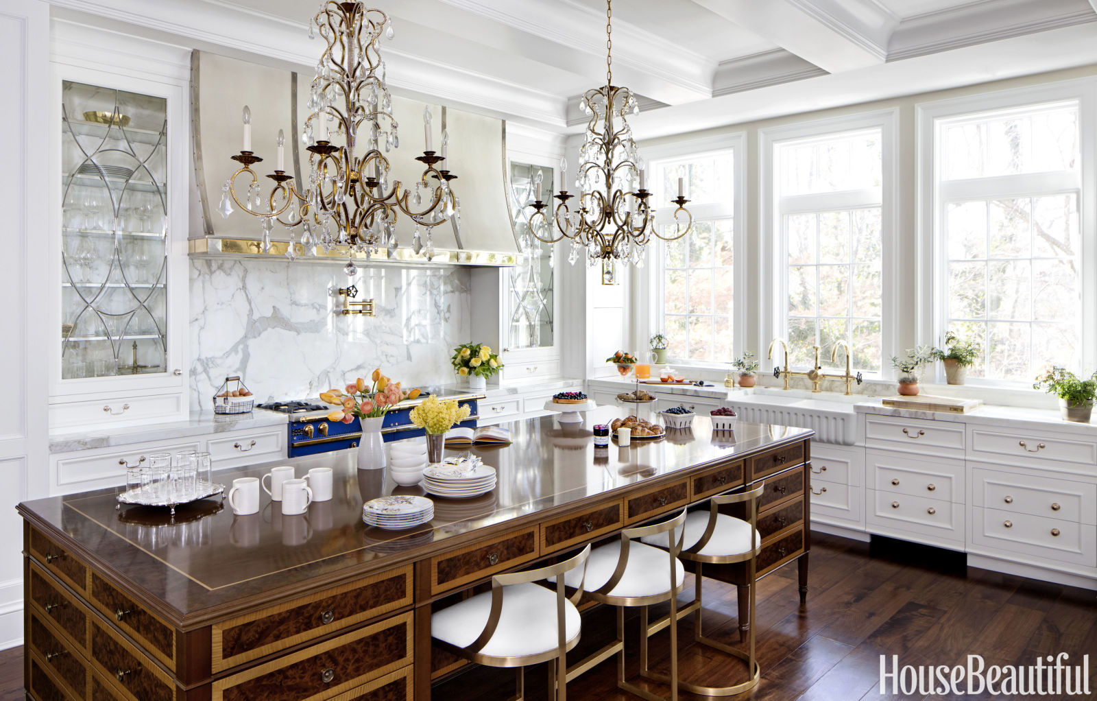 Dream Kitchens White Kitchen Of The Month  Inspiring Dream Kitchens  House Beautiful