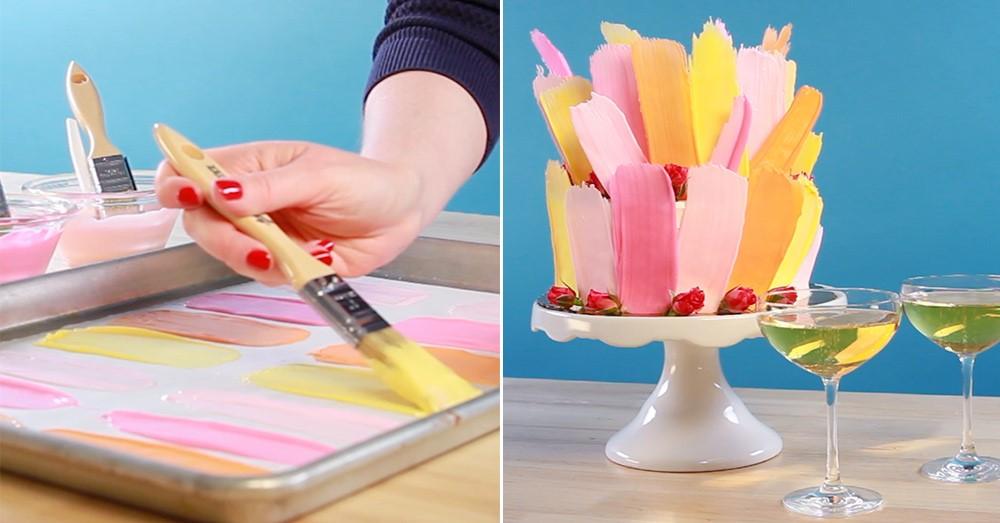 How To Make A Brushstroke Cake
