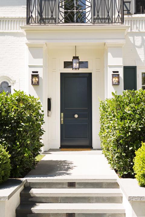 Yellow House Black Door 14 best front door paint colors - paint ideas for front doors