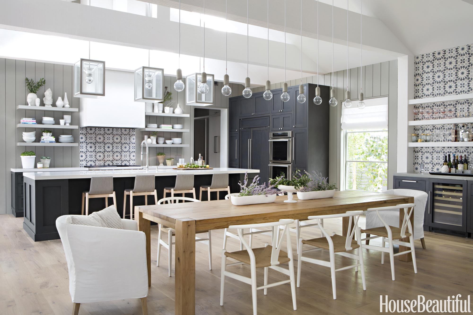 A farmhouse kitchen by raili clasen and eric olsen - Modern farmhouse kitchen colors ...