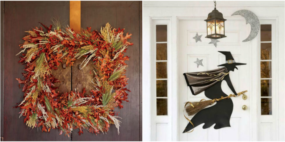 halloween wreaths - Homemade Halloween Door Decorations