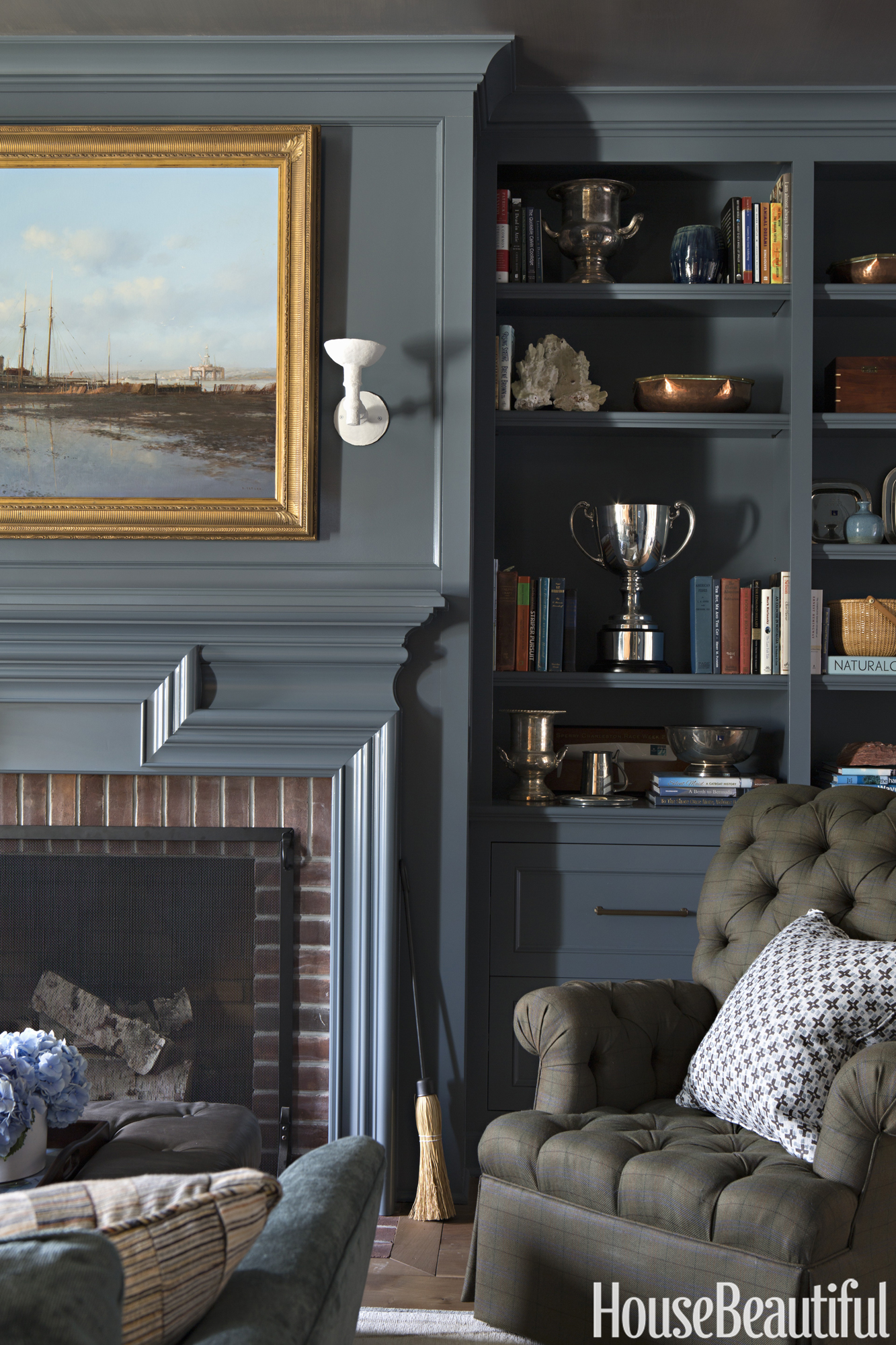 Study Room Color Ideas: 35 Stylish Gray Rooms