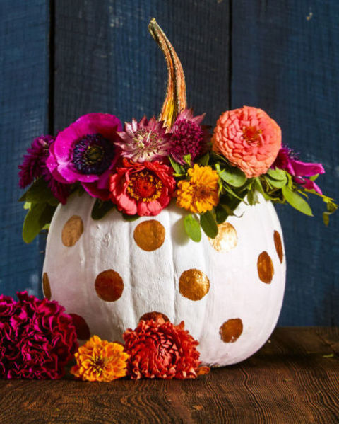 polka dotted pumpkin - Pumpkin Decor