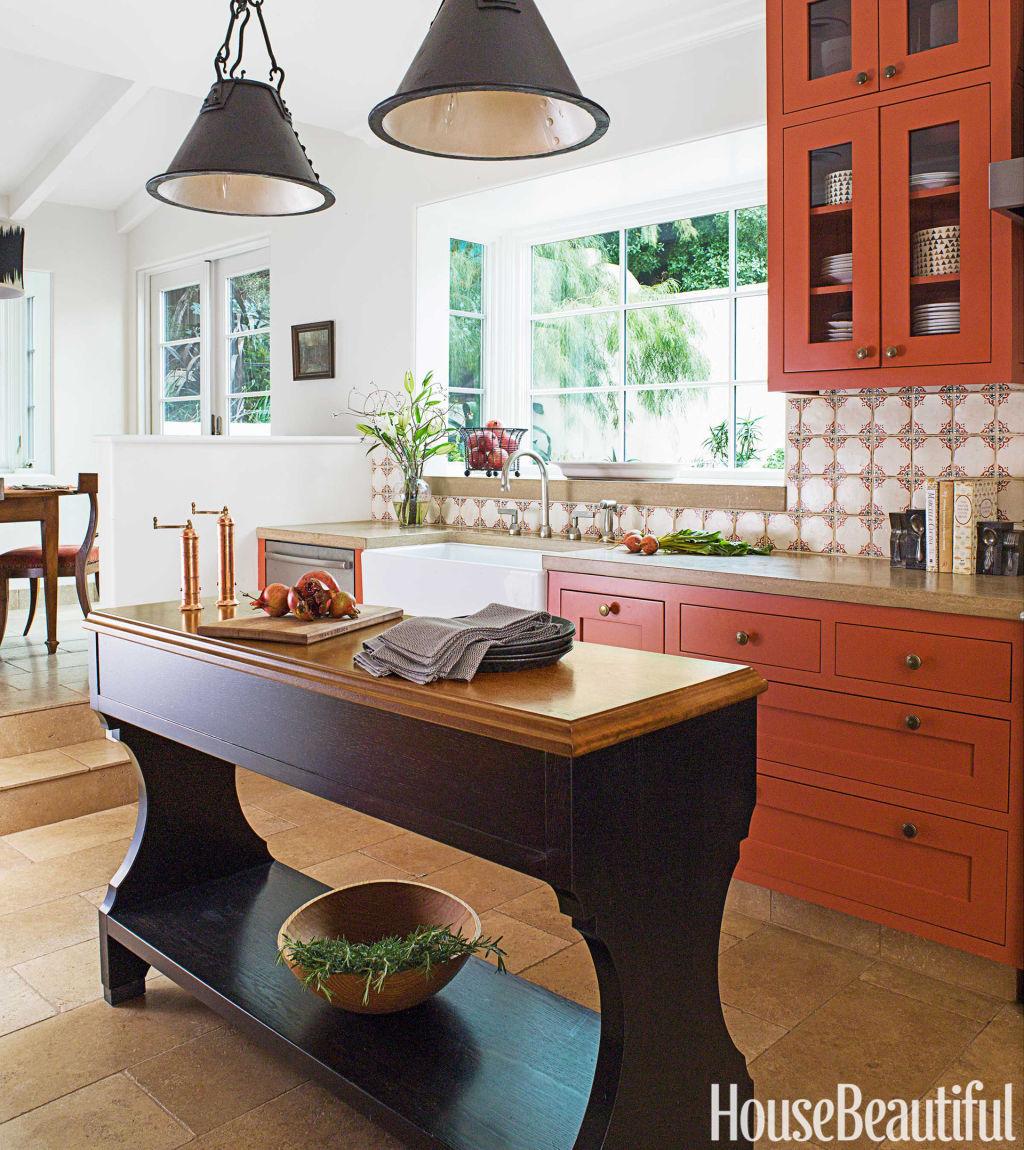 Kitchen Table Lighting Ideas Gallery: Burnt Orange Kitchen