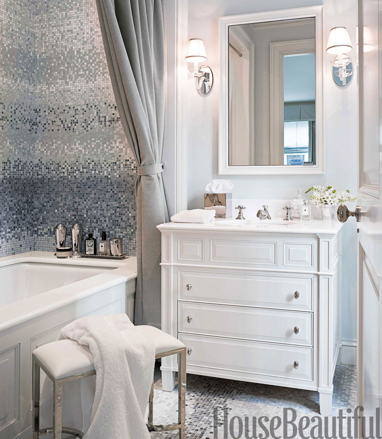 Mosaic bathroom design his and hers bathroom decor for His hers bathroom decor