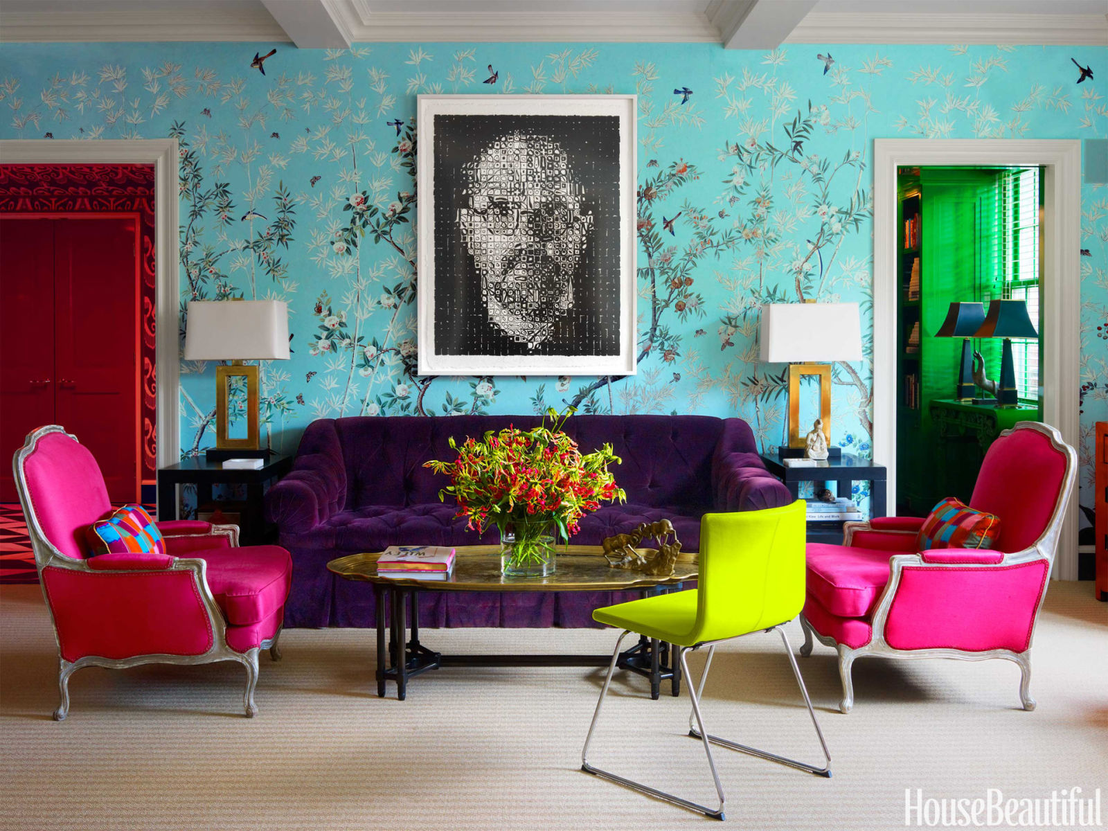 miles redd colorful manhattan apartment colorful family home - Happy Colors For Living Room