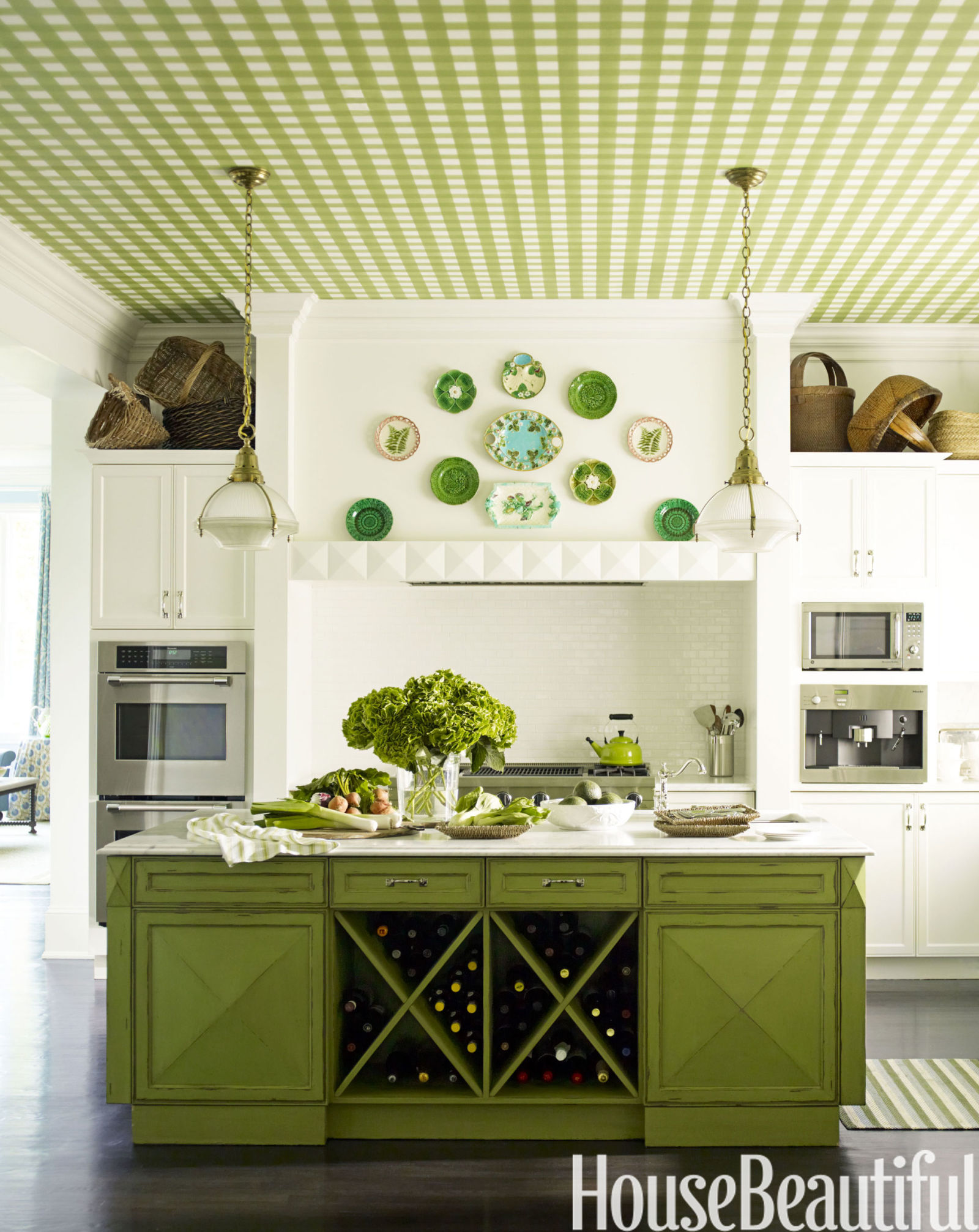Green Kitchen Walls green kitchens - ideas for green kitchen design