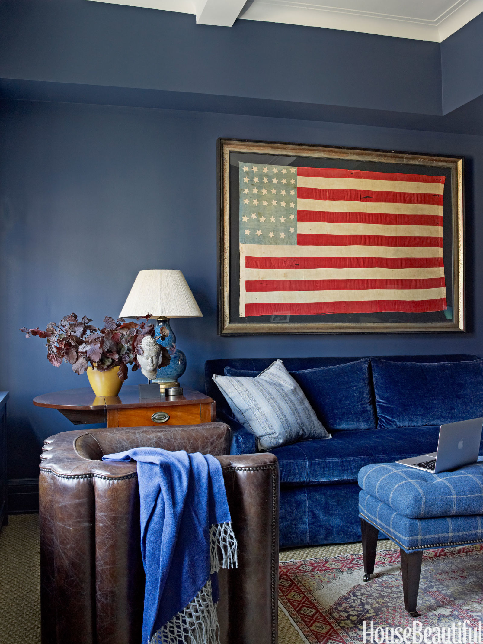 patriotic decor for 4th of july - red, white, and blue decorating