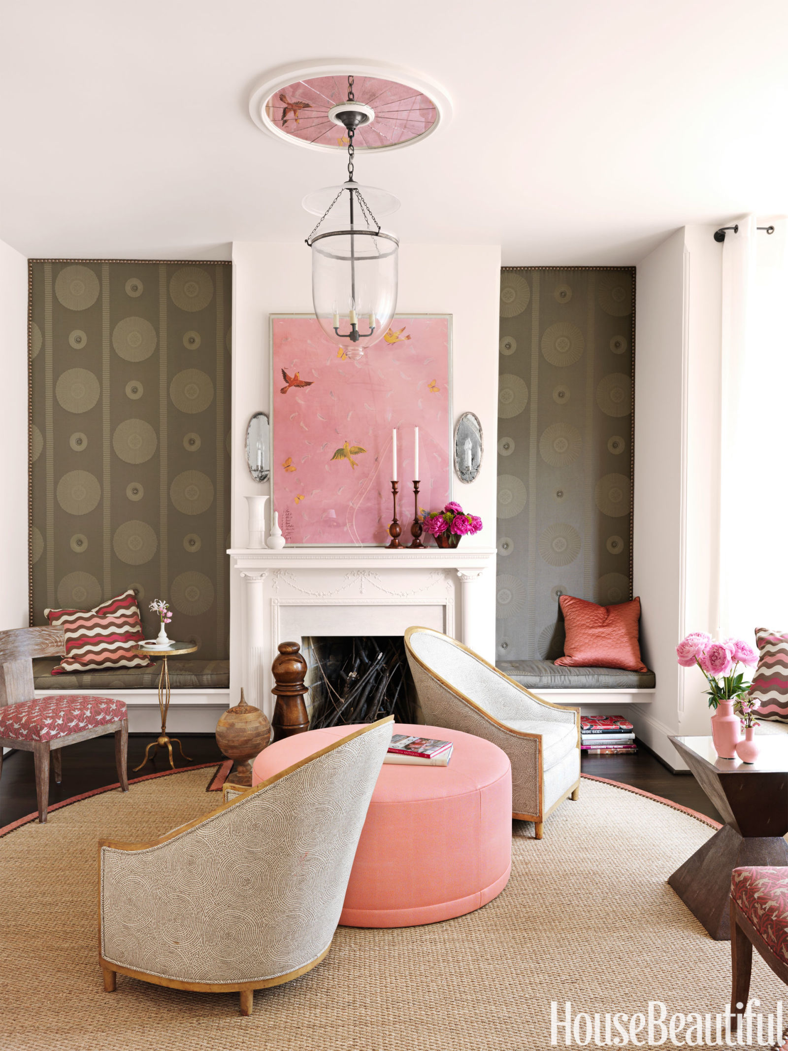 Happy living room fun living rooms for Living room ideas pink and grey