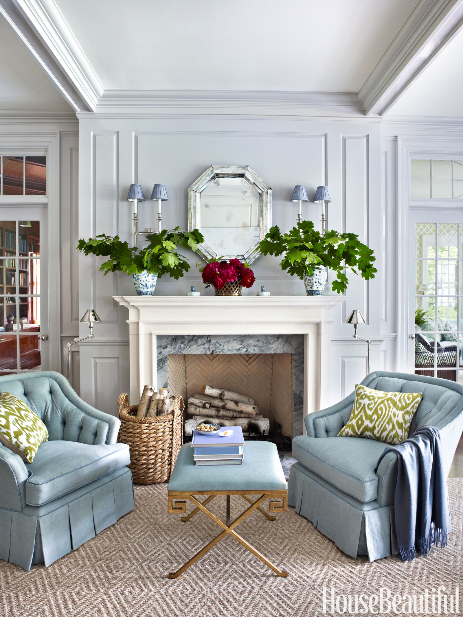 ashley whittaker greenwich house ashley whittaker interior design - House Beautiful Living Room Colors