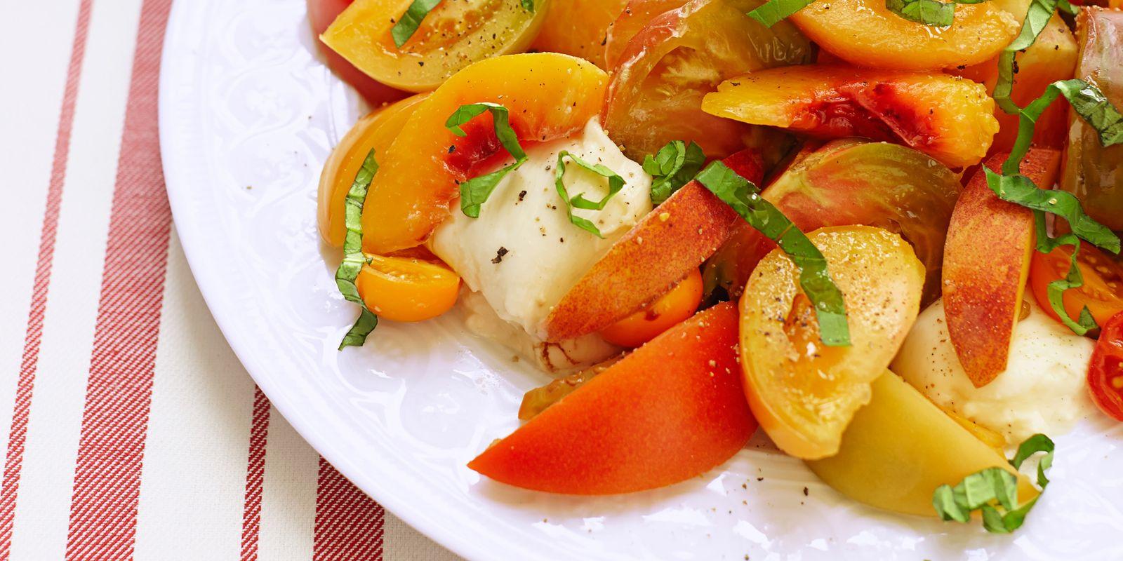 Tomato, Peach And Burrata Salad Recipe — Dishmaps