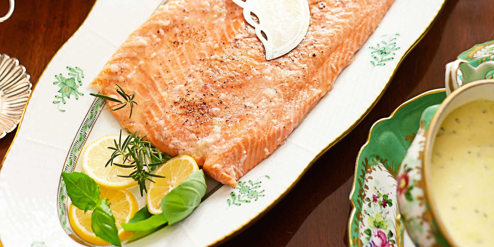 Salmon With Bearnaise Sauce Endearing Of Perfect Poached Salmon With Bearnaise Sauce  Poached Salmon Recipe Picture